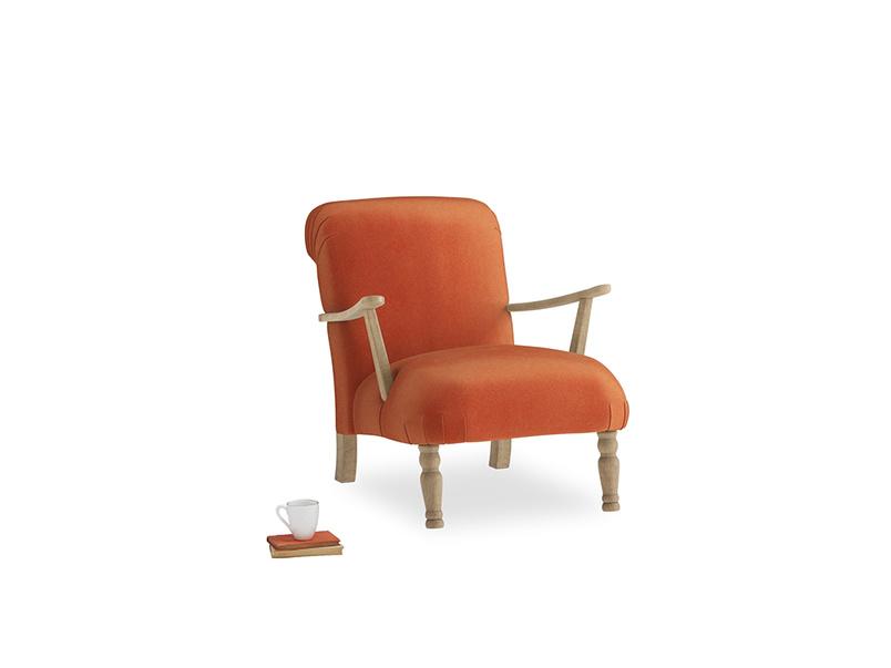 Brew Armchair in Old Orange Clever Deep Velvet