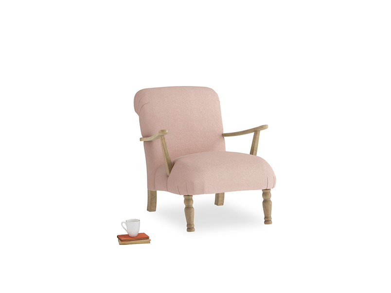 Brew Armchair in Pale Pink Clever Woolly Fabric