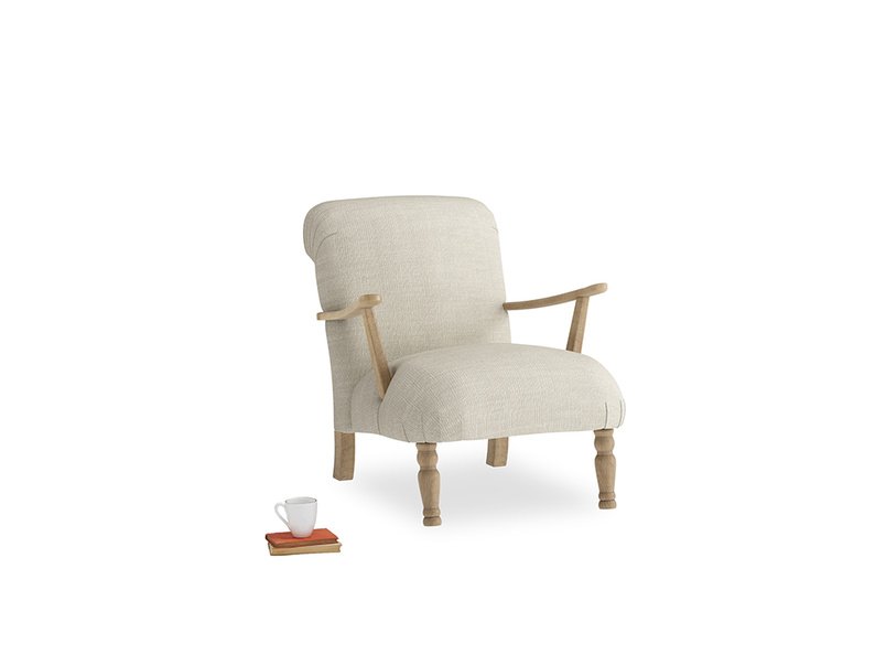 Brew Armchair in Shell Clever Laundered Linen