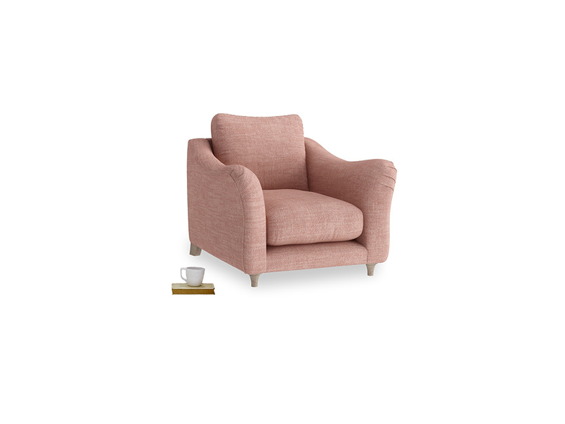 Bumpster Armchair in Blossom Laundered Linen