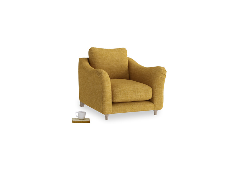 Bumpster Armchair in Mellow Yellow Laundered Linen