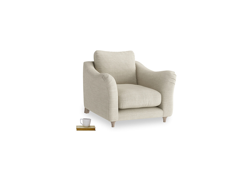 Bumpster Armchair in Shell Laundered Linen