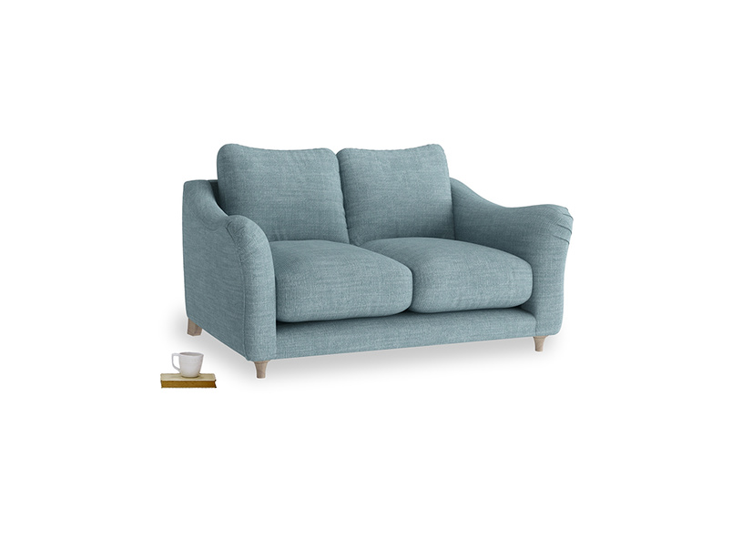 Small Bumpster Sofa in Soft Blue Clever Laundered Linen