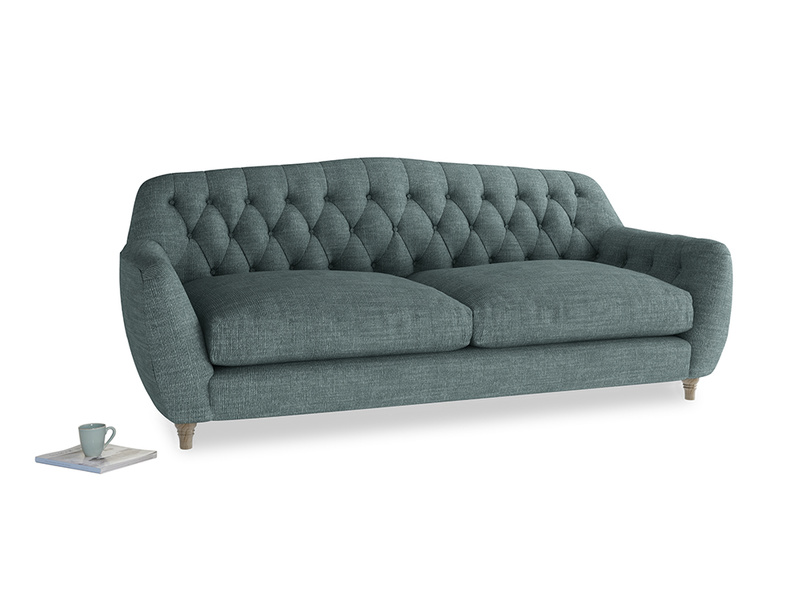 Large Butterbump Sofa in Anchor Grey Clever Laundered Linen
