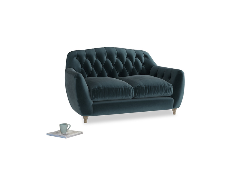 Small Butterbump Sofa in Bluey Grey Clever Deep Velvet