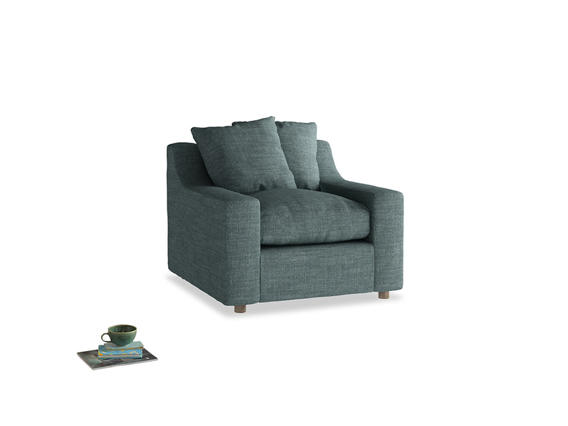 Cloud Armchair in Anchor Grey Laundered Linen