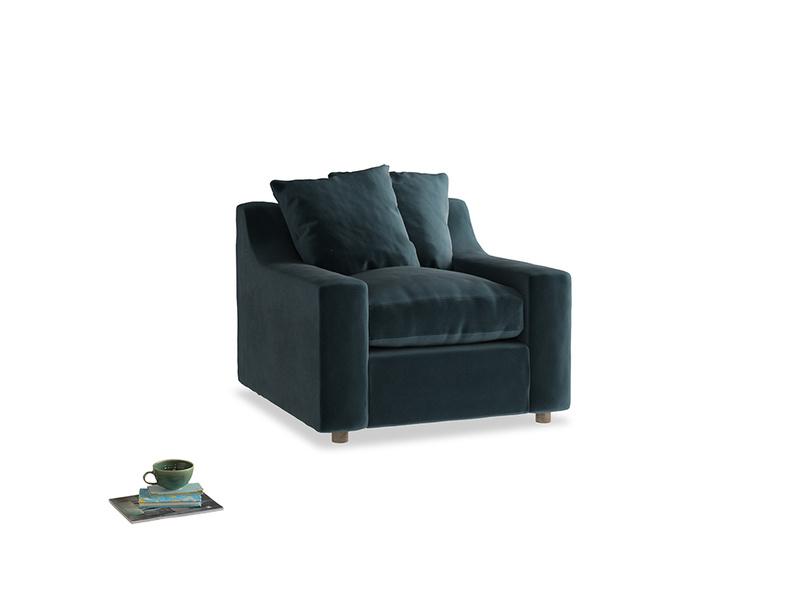 Cloud Armchair in Bluey Grey Clever Deep Velvet