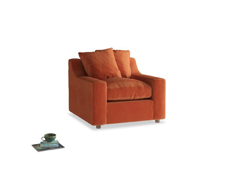 Cloud Armchair in Old Orange Clever Deep Velvet