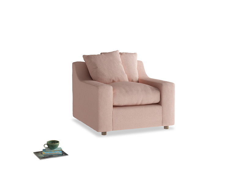 Cloud Armchair in Pale Pink Clever Woolly Fabric
