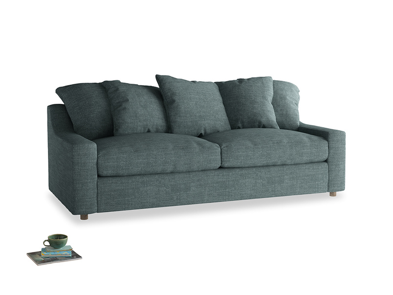 Large Cloud Sofa in Anchor Grey Clever Laundered Linen