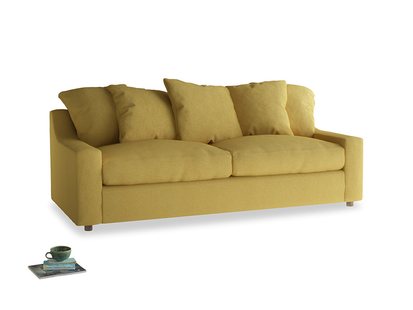 Large Cloud Sofa in Easy Yellow Clever Woolly Fabric