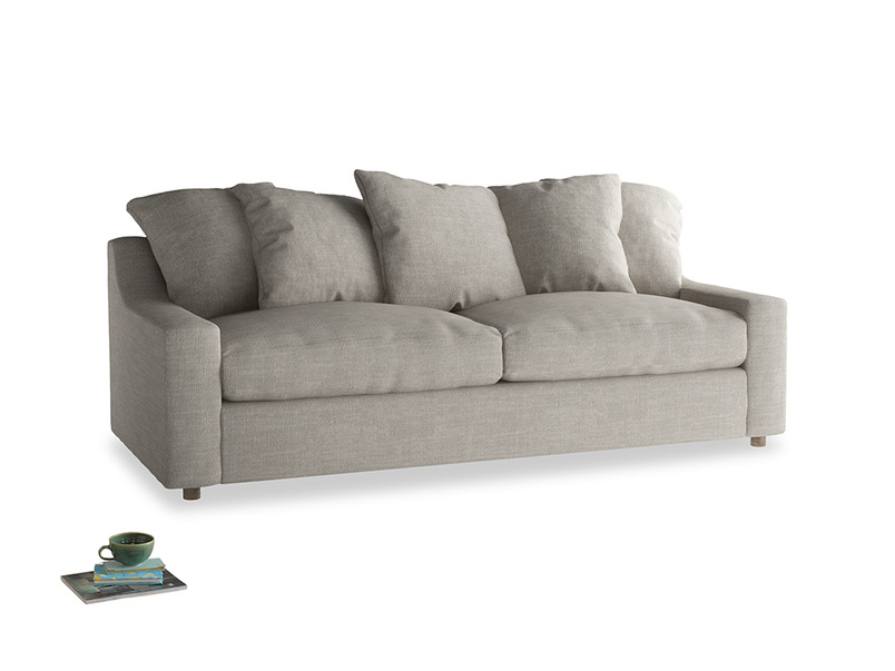 Large Cloud Sofa in Grey Daybreak Clever Laundered Linen
