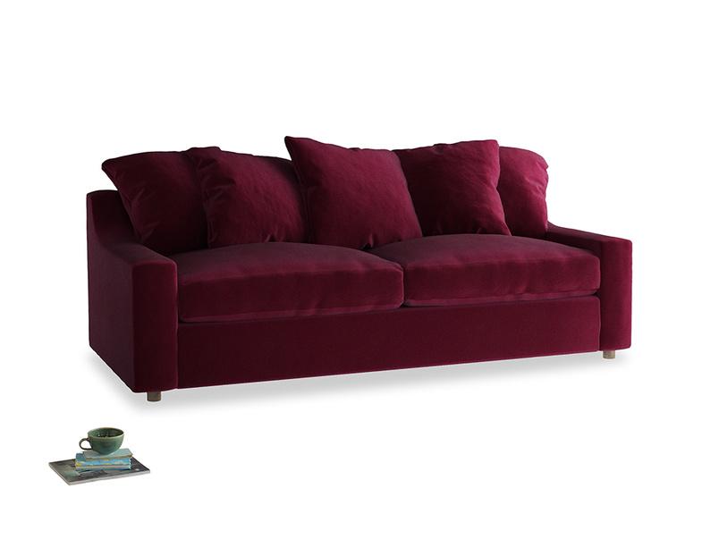 Large Cloud Sofa in Merlot Plush Velvet