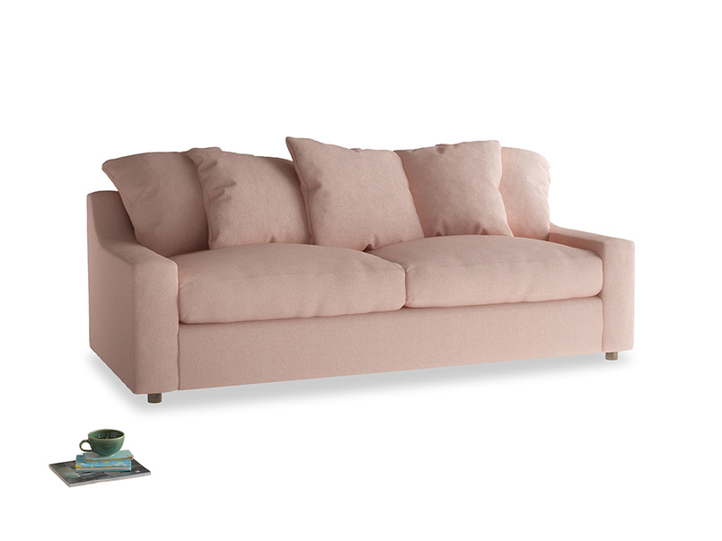 Large Cloud Sofa in Pale Pink Clever Woolly Fabric