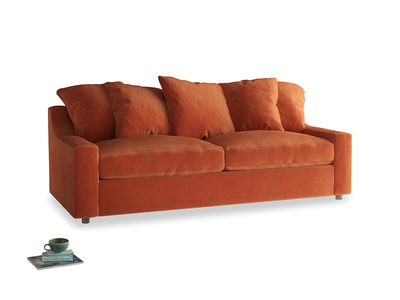 Large Cloud Sofa in Old Orange Clever Deep Velvet