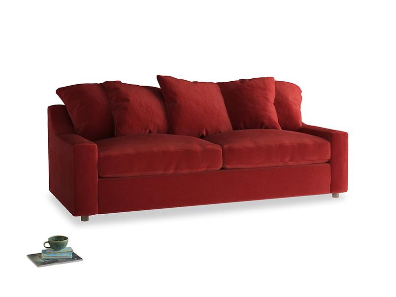 Large Cloud Sofa in Rusted Ruby Vintage Velvet