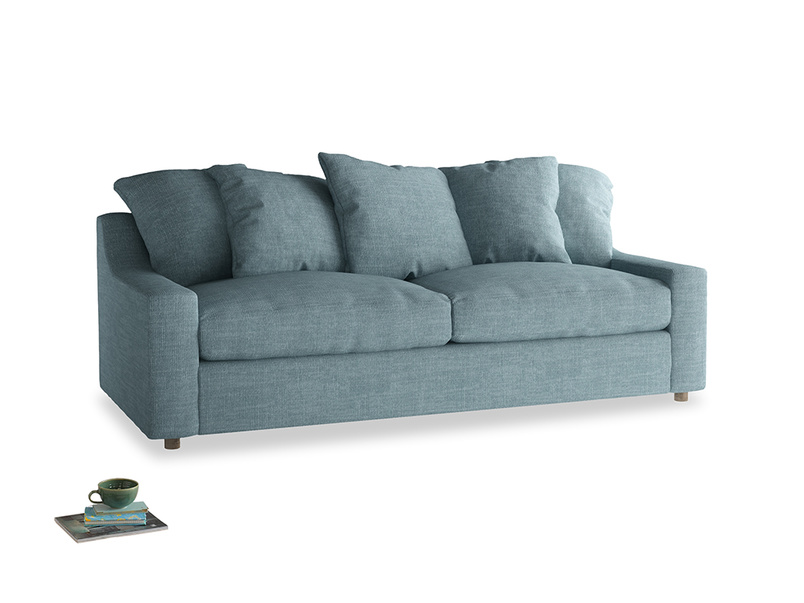 Large Cloud Sofa in Soft Blue Clever Laundered Linen