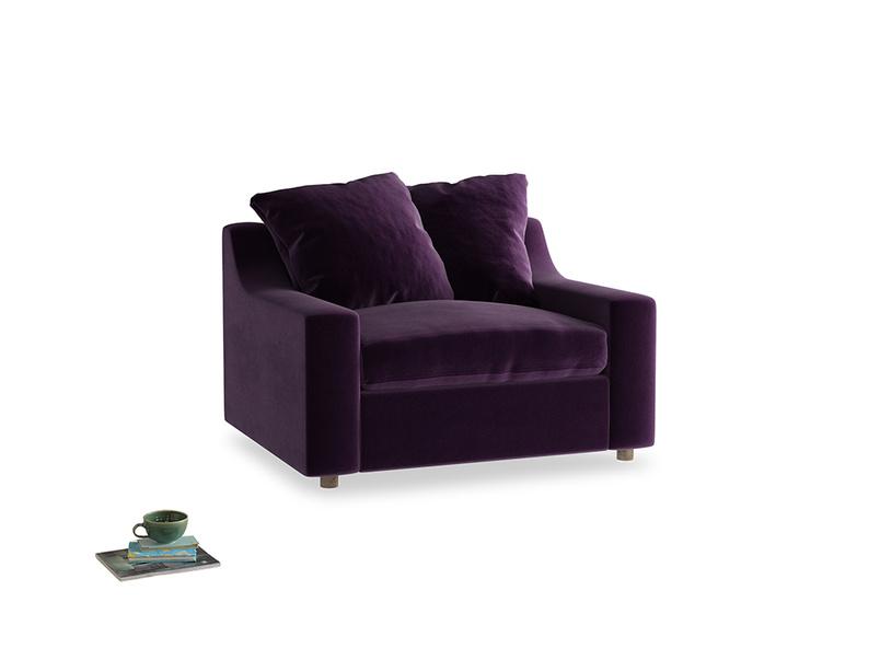 Cloud Love seat in Deep Purple Clever Deep Velvet