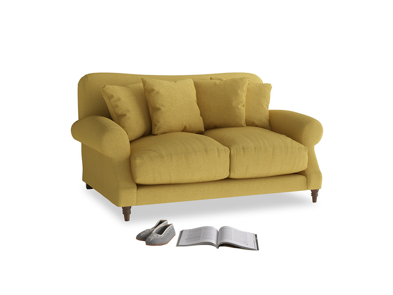 Small Crumpet Sofa in Easy Yellow Clever Woolly Fabric