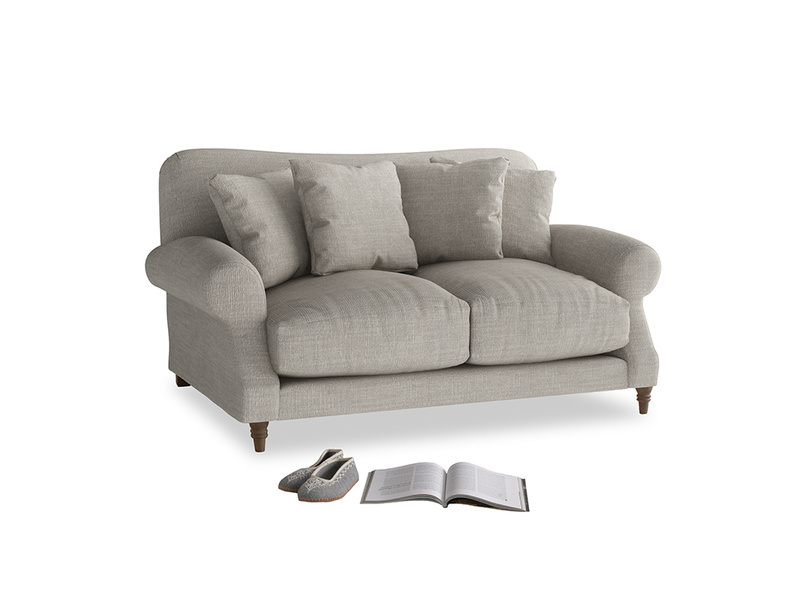 Small Crumpet Sofa in Grey Daybreak Clever Laundered Linen