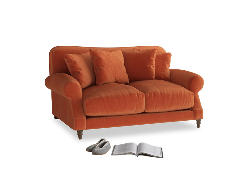 Small Crumpet Sofa in Old Orange Clever Deep Velvet