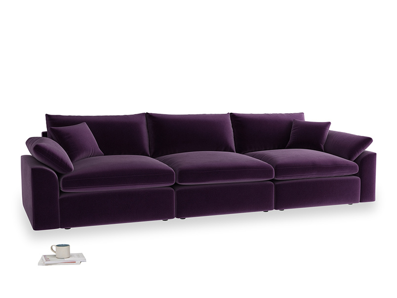 Large Cuddlemuffin Modular sofa in Deep Purple Clever Deep Velvet