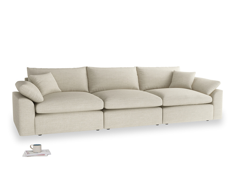 Large Cuddlemuffin Modular sofa in Shell Clever Laundered Linen