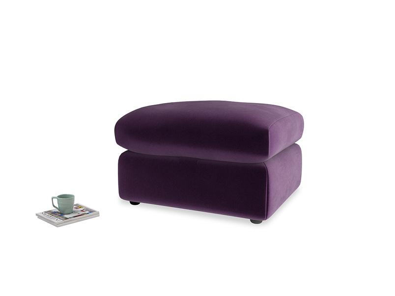 Chatnap Storage Footstool in Deep Purple Clever Deep Velvet