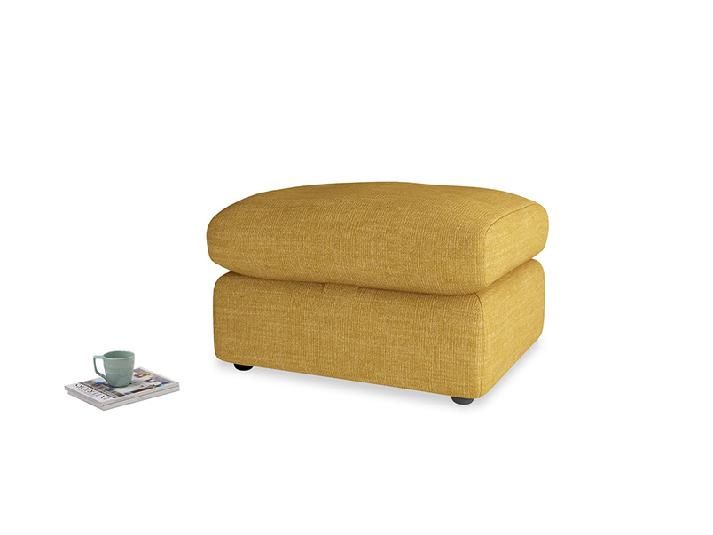 Chatnap Storage Footstool in Mellow Yellow Clever Laundered Linen