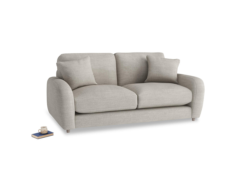Small Easy Squeeze Sofa in Grey Daybreak Laundered Linen
