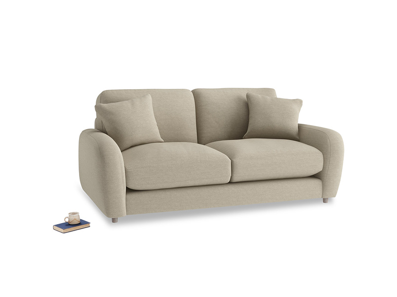 Small Easy Squeeze Sofa in Jute vintage linen