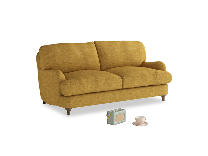 Small Jonesy Sofa in Mellow Yellow Clever Laundered Linen