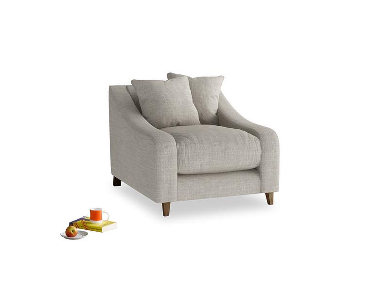 Oscar Armchair in Grey Daybreak Laundered Linen