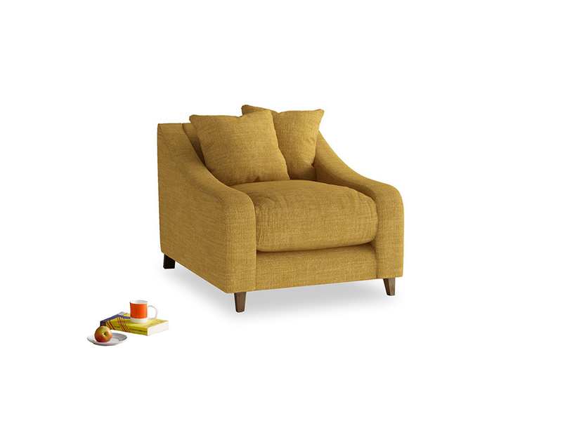 Oscar Armchair in Mellow Yellow Laundered Linen