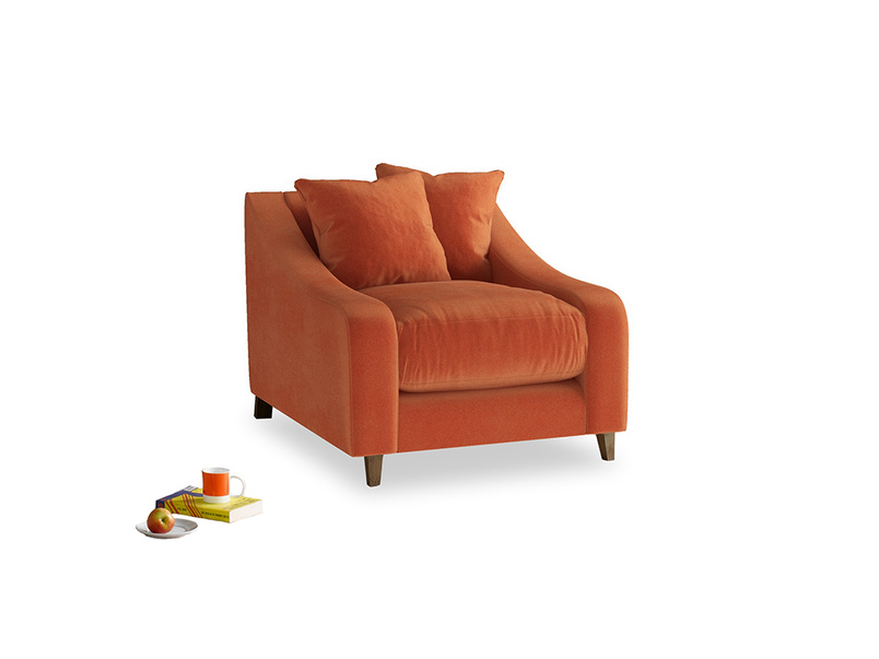 Oscar Armchair in Old Orange Clever Deep Velvet