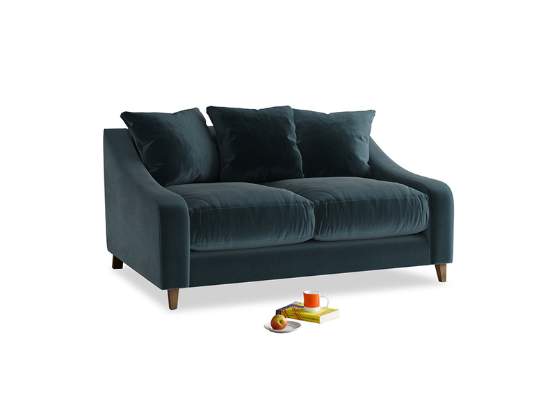 Small Oscar Sofa in Bluey Grey Clever Deep Velvet