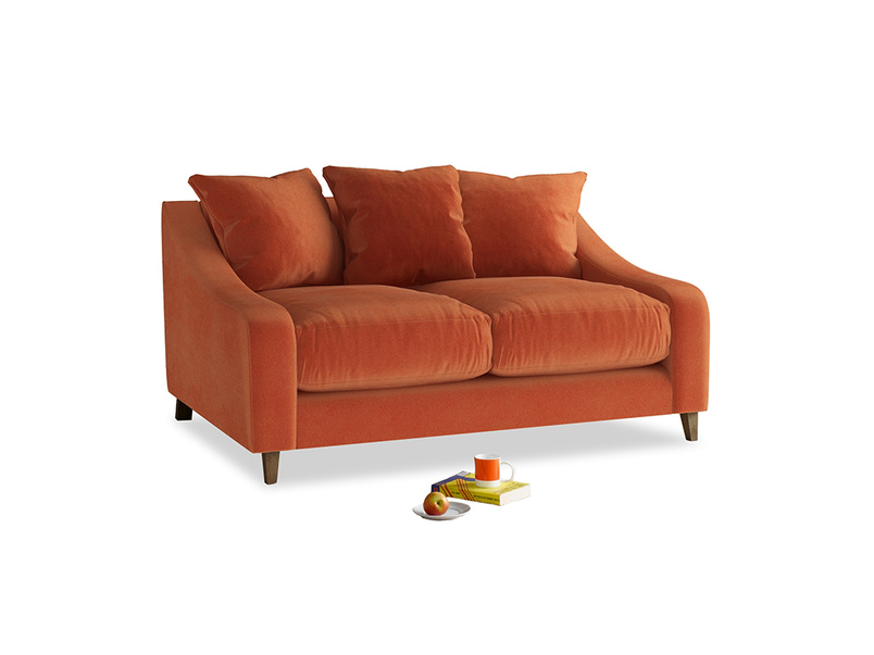 Small Oscar Sofa in Old Orange Clever Deep Velvet