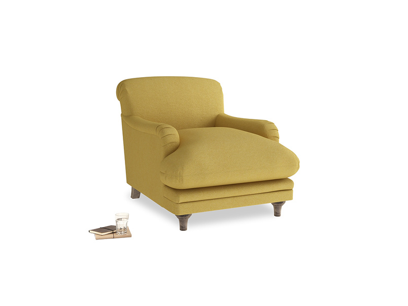 Pudding Armchair in Easy Yellow Clever Woolly Fabric