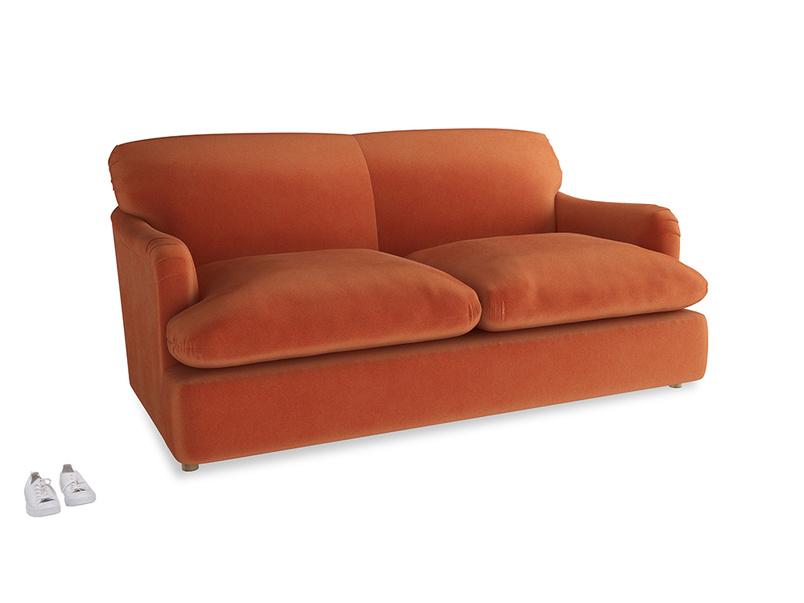 Medium Pudding Sofa Bed in Old Orange Clever Deep Velvet