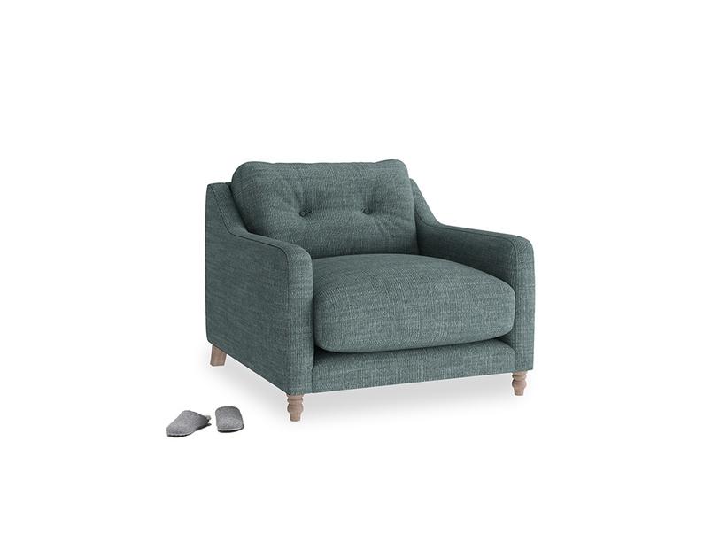 Slim Jim Armchair in Anchor Grey Laundered Linen
