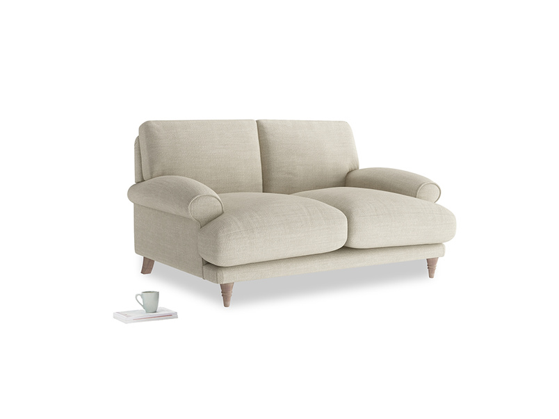 Small Slowcoach Sofa in Shell Clever Laundered Linen