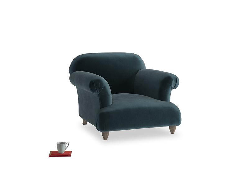 Soufflé Armchair in Bluey Grey Clever Deep Velvet