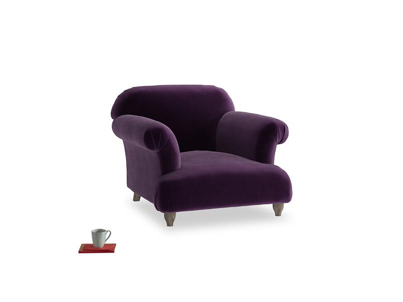 Soufflé Armchair in Deep Purple Clever Deep Velvet
