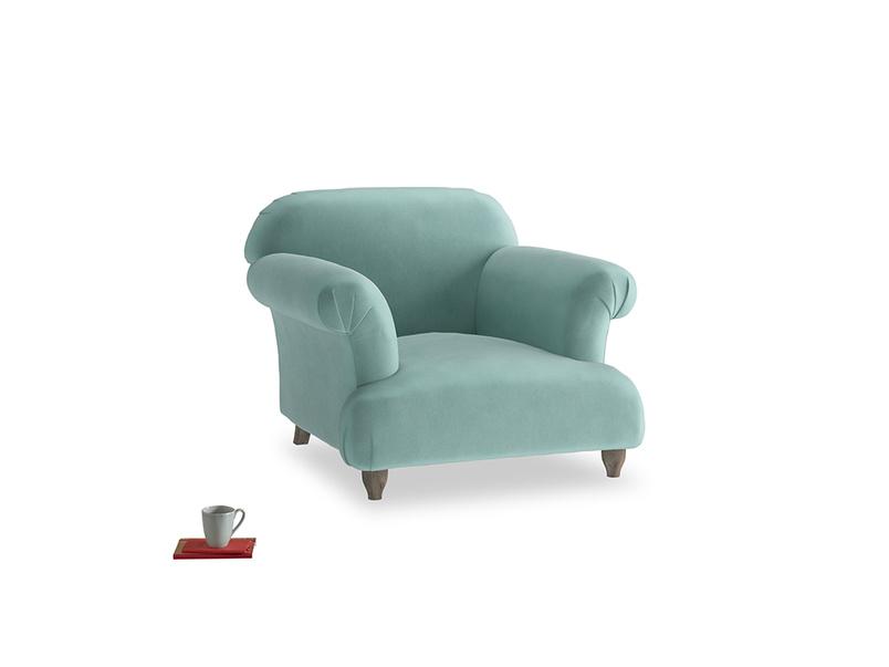 Soufflé Armchair in Greeny Blue Clever Deep Velvet