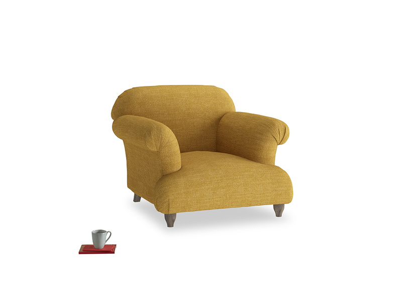 Soufflé Armchair in Mellow Yellow Laundered Linen