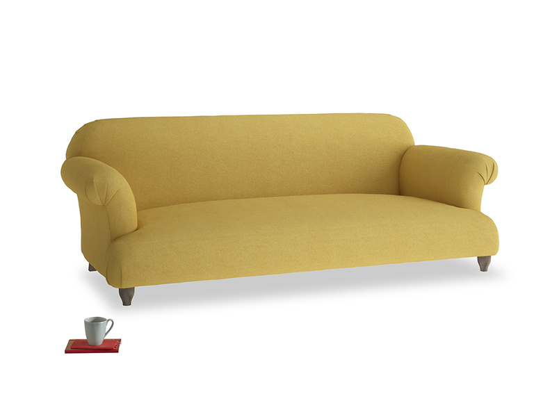 Large Soufflé Sofa in Easy Yellow Clever Woolly Fabric