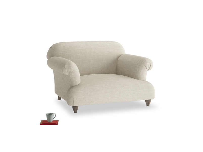 Soufflé Love seat in Shell Clever Laundered Linen