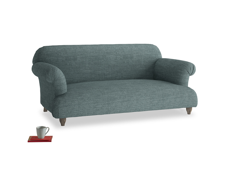 Medium Soufflé Sofa in Anchor Grey Clever Laundered Linen