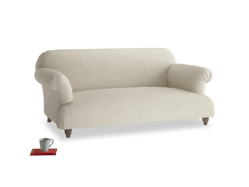 Medium Soufflé Sofa in Shell Clever Laundered Linen