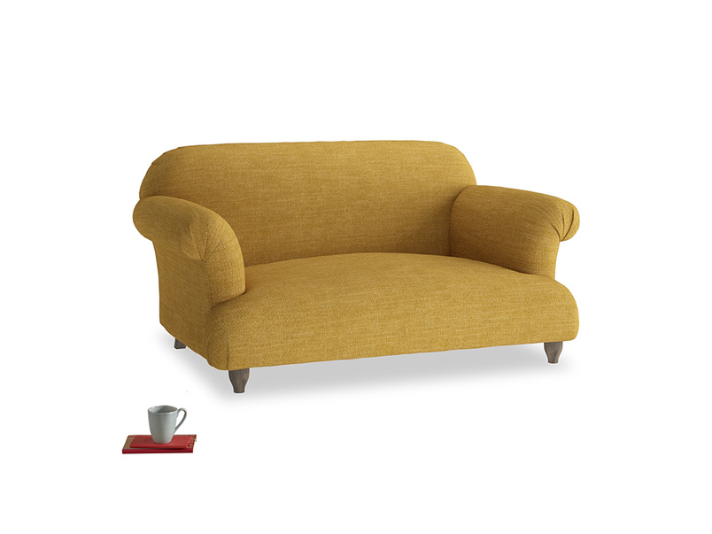 Small Soufflé Sofa in Mellow Yellow Clever Laundered Linen